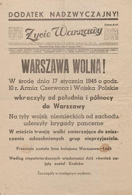 Bez słów, 17 stycznia 1945 r.